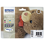 Cartucho de tinta Epson original t0615 negro & 3 colores c13t06154010 4 unidades