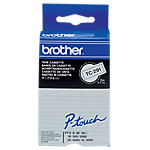 Cinta de etiquetas continuas Brother TC291 negro sobre blanco 9 mm x 7,7 m 7.5 m