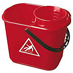 Cubo fregona Denox con escurridor 14 L rojo