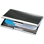 Estuche para tarjetas de visita Sigel plata Formato Especial 20 Tarjetas visita aluminio 9 x 0,5 x 5,5 cm