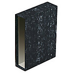 Cajetín archivador ELBA 75 mm cartón A4 negro jaspeado
