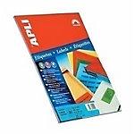 Etiqueta adhesiva APLI 01596 azul 105 x 37 mm 20 hojas de 16 etiquetas