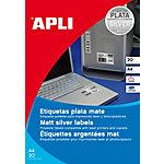 Etiqueta adhesiva APLI 10070 plata 63,5 x 29,6 mm 20 hojas de 27 etiquetas