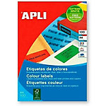 Etiquetas de colores Apli A4