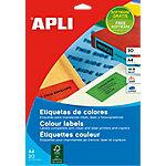 Etiqueta adhesiva APLI 01600 A4 azul 210 x 297 mm 20 hojas de 1 etiqueta