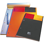 Bloc de bureau OXFORD International A4+ Ligné Noir, Orange   80 Feuilles