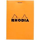 Bloc de bureau Rhodia 8,5 x 11 cm Agrafée Orange Carton Quadrillé 80 Pages   80 Feuilles