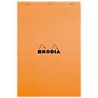 Bloc de bureau Rhodia A4 Agrafée Orange Quadrillé 80 Pages   80 Feuilles