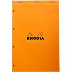 Bloc de bureau Rhodia A4+ Orange Carton Quadrillé 80 Pages   80 Feuilles