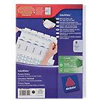 Intercalaires Avery 1638061 A4 Blanc 6 intercalaires Perforé Carte lustrée Vierge