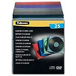 Boîtier CD et DVD Fellowes Slimeline 25 Unités