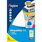 Pastilles multi usage APLI A5 Blanc 16 Feuilles de 40 Étiquettes