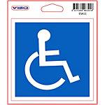 Signalétique adhésive « Accès Handicapés » Viso 11,5 (H) x 11,5 (l) cm