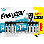 Piles alcalines Energizer Max Plus AAA 12 Unités