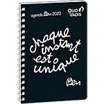 Agenda semainier Quo Vadis Ben instant unique 2020 16 x 24 cm Noir, blanc
