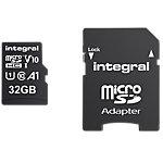 Carte mémoire micro SDHC Integral V10 32 Go Noir