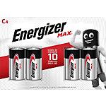 Piles alcalines Energizer Max C   4 Unités