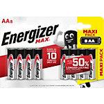 Piles alcalines Energizer Max AA   8 Unités