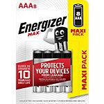 Piles alcalines Energizer Max AAA   8 Unités