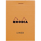Bloc de bureau Rhodia A7 Agrafé Haut Orange Quadrillé 80 Pages   80 Feuilles