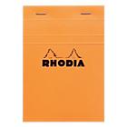 Bloc de bureau petits carreaux 80 feuilles Rhodia A6 Agrafées Orange Carton rigide Quadrillé 160 Pages   80 Feuilles