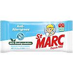 Lingettes biodegradables anti allergenes St Marc 42 unités extra larges