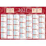 Calendrier semestriel Bouchut Grandrémy 7 mois recto verso 2021 Assortiment   5 Unités