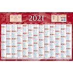 Calendrier annuel Bouchut Grandrémy 2021, 2022 Bleu ou rouge   5 Unités