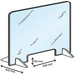 Cloison de protection avec passe documents Plexiglas 100 x 85 cm