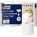 Rouleaux de papier toilette Tork Premium 4 épaisseurs   42 Rouleaux de 153 Feuilles