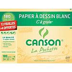 Papier à dessin Canson à grain 180 g