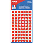 Pastilles adhésives APLI Apli Rouge 462 étiquettes