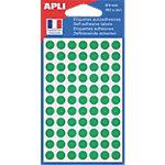 Pastilles adhésives APLI Apli Vert 462 étiquettes