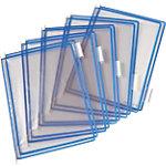 Pochettes à pivot pour pupitre incliné Liderpapel T Display Bleu   10 Unités