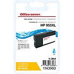 Cartouche jet d'encre Office Depot Compatible HP 953XL Cyan F6U16AE