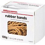 Élastiques en caoutchouc Office Depot 150 x 1,5 mm 100 mm Naturel   100 g