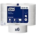 Rouleaux de papier toilette Tork Maxi Jumbo 1 épaisseur   6 Rouleaux de 2400 Feuilles