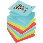 Notes adhésives Post it 76 x 76 mm Super Sticky Assortiment   6 Unités de 90 Feuilles