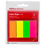 Marque pages Office Depot Neon 50 (H) x 20 (l) mm Assortiment   200 Bandes