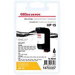 Cartouche jet d'encre Office Depot Compatible HP 15 Noir C6615D