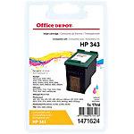 Cartouche jet d'encre Office Depot Compatible HP 343 Cyan, Magenta, Jaune C8766EE