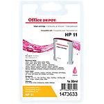 Cartouche jet d'encre Office Depot Compatible HP 11 Magenta C4837A