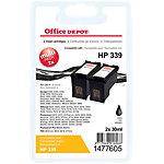 Cartouche jet d'encre Office Depot Compatible HP 339 Noir C8767E 2 Unités