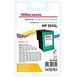 Cartouche jet d'encre Office Depot Compatible HP 351XL Cyan, Magenta, Jaune CB338EE
