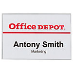 Badges à clip et épingle Office Depot avec Pince combi Horizontal 90 x 60 mm   50 Unités