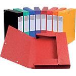 Boites de classement à élastique Exacompta Carte lustrée véritable 32 (H) x 24 (l) cm Assortiment   10 Unités