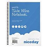 Cahier petits carreaux reliure intégrale Niceday Bleu et blanc 170 x 220 mm  Sans perforation 100 Pages 50 Feuilles