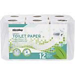 Papier toilette NICEDAY PROFESSIONAL Standard 4 épaisseurs   12 Unités de 160 Feuilles