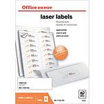 Étiquettes Office Depot Special format Blanc 99,1 x 33,8 mm 100 Feuilles de 16 Étiquettes