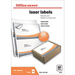 Étiquettes Office Depot Special format Blanc 199,6 x 143,5 mm 100 Feuilles de 2 Étiquettes